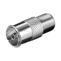 Bild F-Adapter: F-Buchse > Koax-Buchse