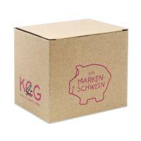 Bild Geschenkverpackung Karton braun für Kleinschweine