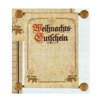 Bild RNK Verlag Weihnachts-Gutschein im traditionellen Stil, DIN A6