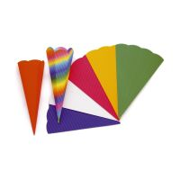 Bild Bastelschultüte 3D-Colorwellpappe grün 68 cm