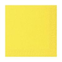 Bild Servietten 3lagig Tissue Uni gelb, 33 x 33 cm, 20 Stück