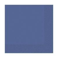 Bild Serviette Zelltuch uni 24 x 24 cm royalblau