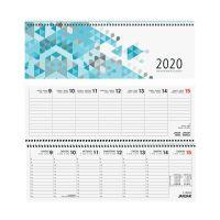 Bild Tischquerkalender 116  - 1 Woche / 2 Seiten, 30 x 10 cm, blau