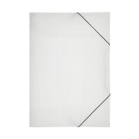 Bild Gummizugmappe Lucy Basic - A4, transparent, PP, 3 Einschlagklappen