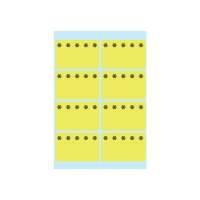 Bild 3771 Tiefkühletiketten gelb 26x40 mm Eiskristalle 48 St.