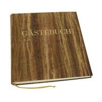 Bild Gästebuch - braun, 270 Seiten, blanko, Einband Papyrus