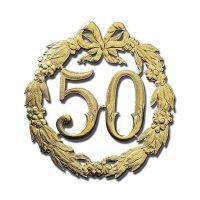 Bild Jubiläumszahl 50 - Ø 24 cm, ohne Draht, gold