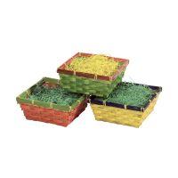 Bild Osterkorb - mit Gras, drei Farben sortiert