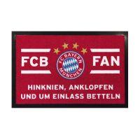 Bild Fussmatte FC Bayern - rot/weiß