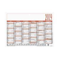 Bild Tafelkalender - A5 quer, 6 Monate / 1 Seite, Karton