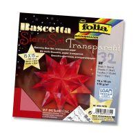 Bild Bascetta Stern - rot, transparent, Ø 20 cm