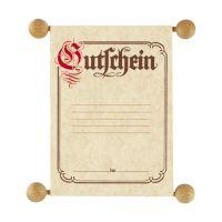 Bild Gutschein im traditionellen Stil, DIN A6