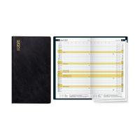 Bild Leporello-Plankalender D 15 - 1 Monat / 2 Seiten, Blattgröße 87x153mm, schwarz