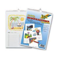 Bild Bastelkalender - A4, blanco, weiß, 13 Blatt + 1 zusätzliches Deckblatt
