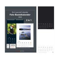 Bild Bastelkalender - 21 x 29,7 cm, 2 in 1 - schwarz/weiß