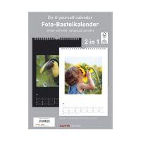 Bild Bastelkalender - 21 x 29,7 cm, immer während, 2 in 1, schwarz/weiß