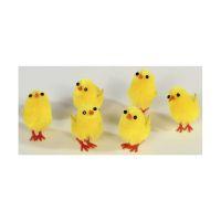 Bild Chenille-Küken - gelb, 2 cm, 6 Stück
