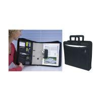 Bild Ordnertasche - Polyester, A4-Ordner bis 75mm Rückenbreite, schwarz