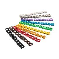 Bild Kabelmarker-Clips ''Ziffern 0-9'', für Kabeldurchmesser bis 6 mm