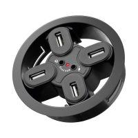 Bild 4-fach USB 2.0 Hi-Speed Einbau-HUB/Verteiler + Audio