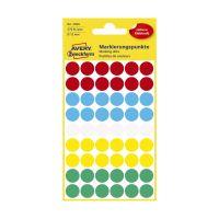 Bild 3088 Markierungspunkte - Ø 12 mm, 5 Blatt/270 Etiketten, farbig sortiert
