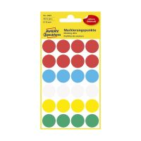 Bild 3089 Markierungspunkte - Ø 18 mm, 4 Blatt/96 Etiketten, farbig sortiert