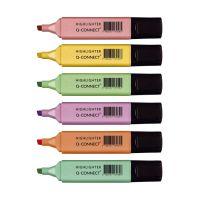 Bild Textmarker - ca. 1,5 - 2 mm, pastell sortiert, Etui mit 6 Farben