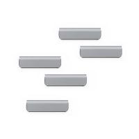 Bild Zettelhalter DURAFIX® CLIP - 60 x 17 mm, silber, sk, 5er Pack