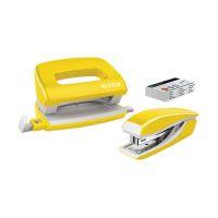 Bild 5561 Set Mini Locher Heftgerät NeXXt WOW - gelb metallic