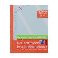Bild Prospekthüllenblock Quick'in - glasklar, 0,05 mm, A4, 60 Stück