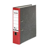 Bild Recycling-Wolkenmarmor-Ordner A4, roter Rücken 80mm