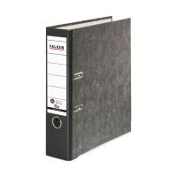 Bild Recycling-Wolkenmarmor-Ordner A4, schwarzer Rücken 80mm