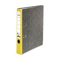 Bild Recycling-Wolkenmarmor-Ordner A4, gelber Rücken 50mm
