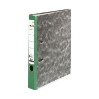 Bild Recycling-Wolkenmarmor-Ordner A4, grüner Rücken 50mm