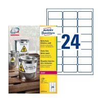 Bild L4773-100 Folienetiketten - 63,5 x 33,9 mm, weiß, 2400 Etiketten, permanent, wetterfest