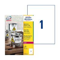 Bild L4775-100 Folienetiketten - 210 x 297 mm, weiß, 100 Etiketten, permanent, wetterfest