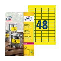 Bild L6103-20 Folienetiketten - 45,7 x 21,2 mm, gelb, 960 Etiketten, permanent, wetterfest