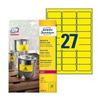 Bild L6105-20 Folienetiketten - 63,5 x 29,6 mm, gelb, 540 Etiketten, permanent, wetterfest