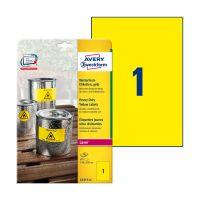 Bild L4775-100 Folienetiketten - 210 x 297 mm, gelb, 100 Etiketten, permanent, wetterfest
