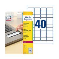 Bild L6145-20 Etikett Sicherheit - 45,7x25,4 mm, weiß, 800 Etiketten, permanent, manipulationssicher