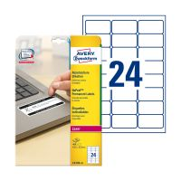 Bild L6146-20 Etikett Sicherheit - 63,5 x 33,9 mm, weiß, 480 Etiketten, permanent, manipulationssicher