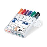Bild Lumocolor® 351 B whiteboard marker - Keilspitze, 6 Farben sortiert
