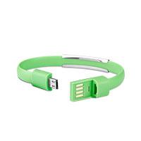 Bild Datenkabel Micro-USB 2.0 Armband, grün