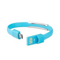 Bild Datenkabel Micro-USB 2.0 Armband, blau
