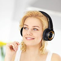 Bild On Ear Bluetooth Headset, Gold