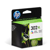 Bild HP XL Druckerpatrone '302 XL' farbig 8 ml