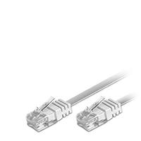Bild Netzwerkkabel, CAT 5 FLAT, weiß, 0,5 Meter