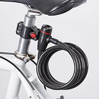 Bild Dunlop Spiralkabel-Fahrradschloss, 180 cm