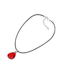 Bild Halskette mit rubinrotem Tropfenstein