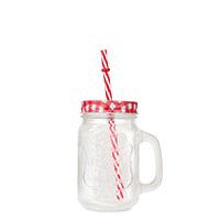 Bild Sommer-Trinkglas mit Deckel & Strohhalm